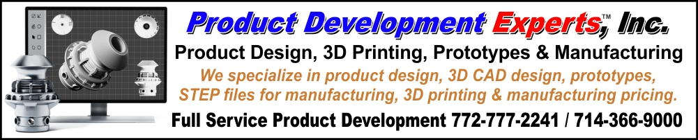 Product Development, Product Design, Prototypes and Florida Invention Design Experts and Orange County California